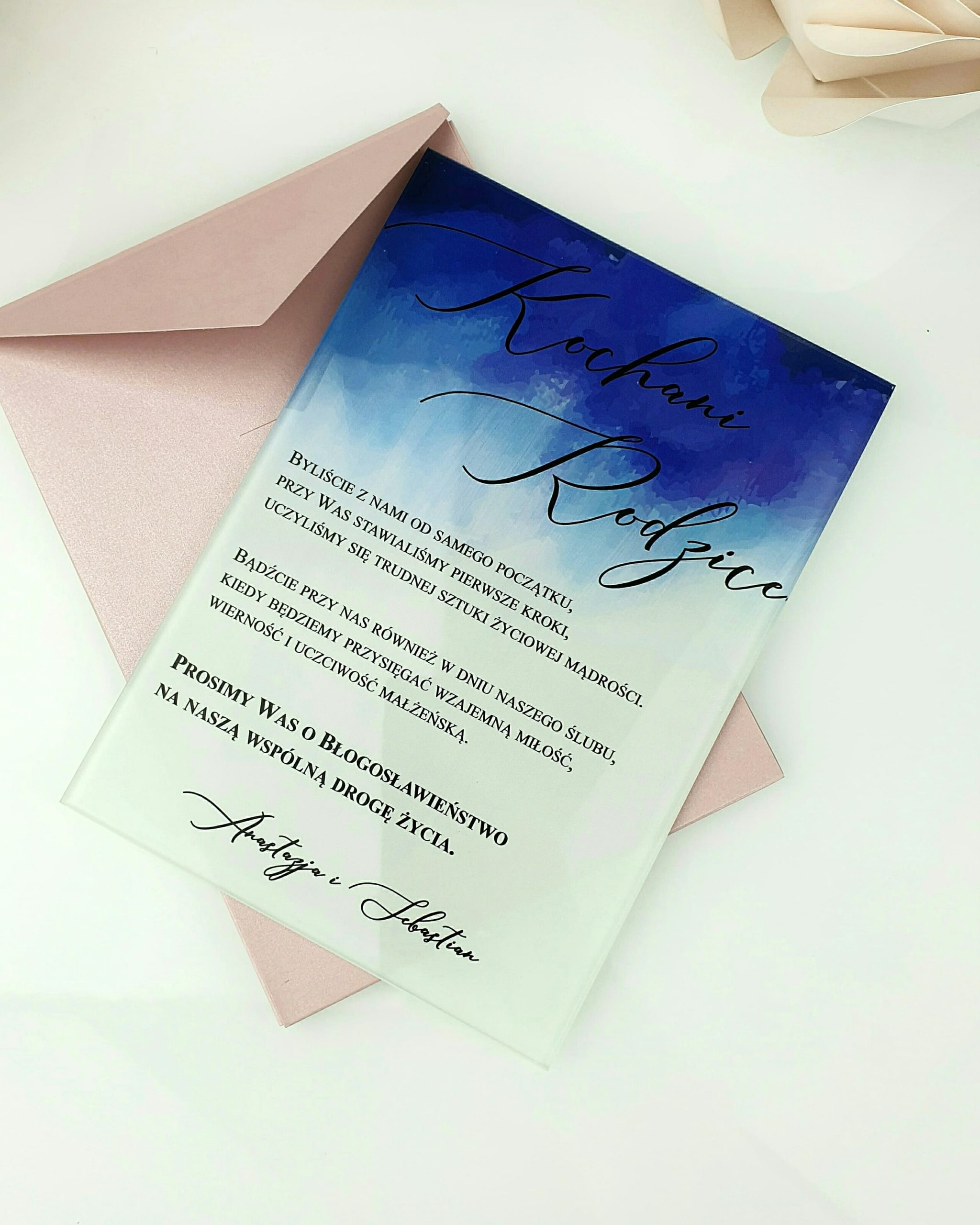 Blue side prośba o błogosławieństwo dla rodziców szklana tafla 2