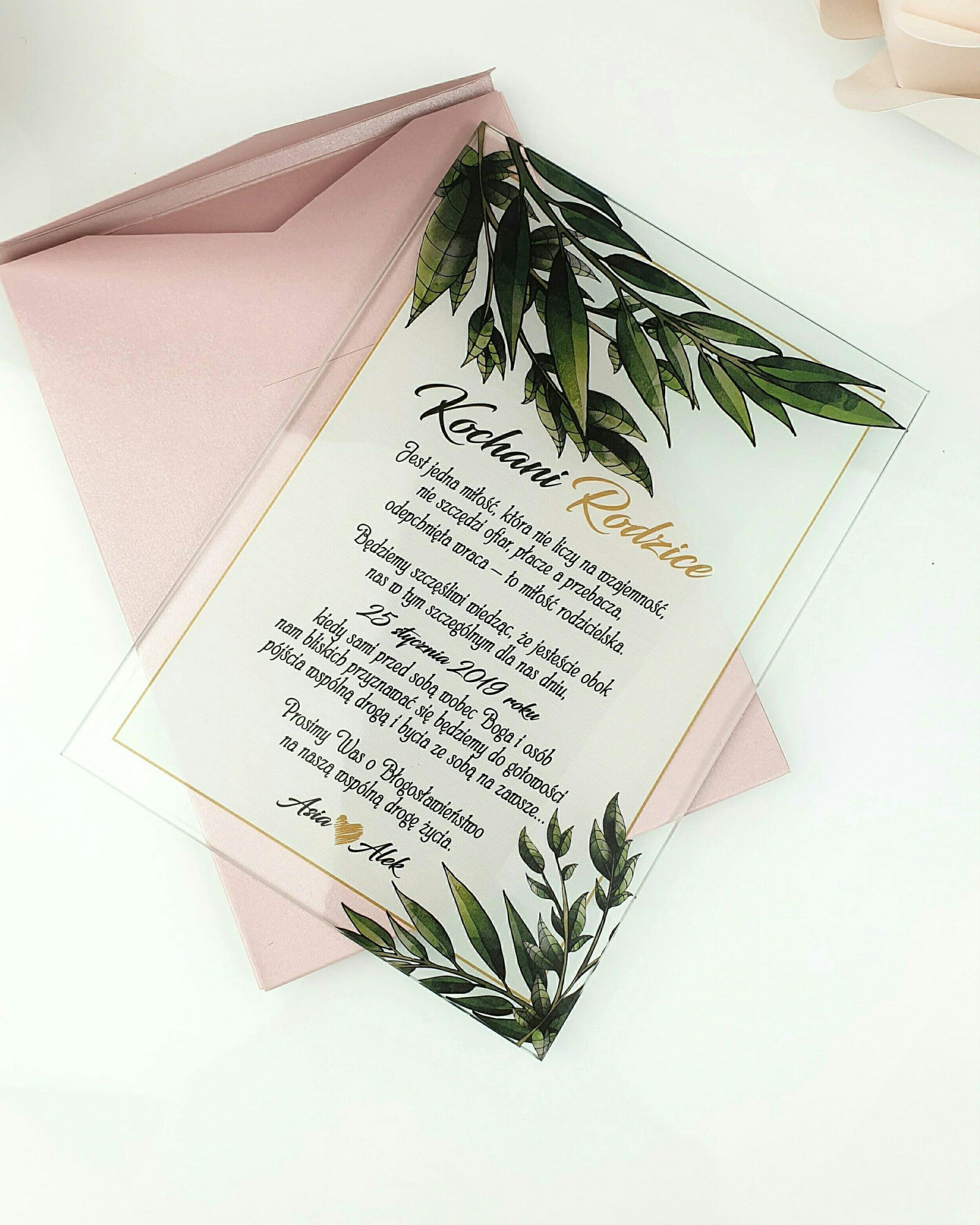 Botanical prośba o błogosławieństwo szklana tafla