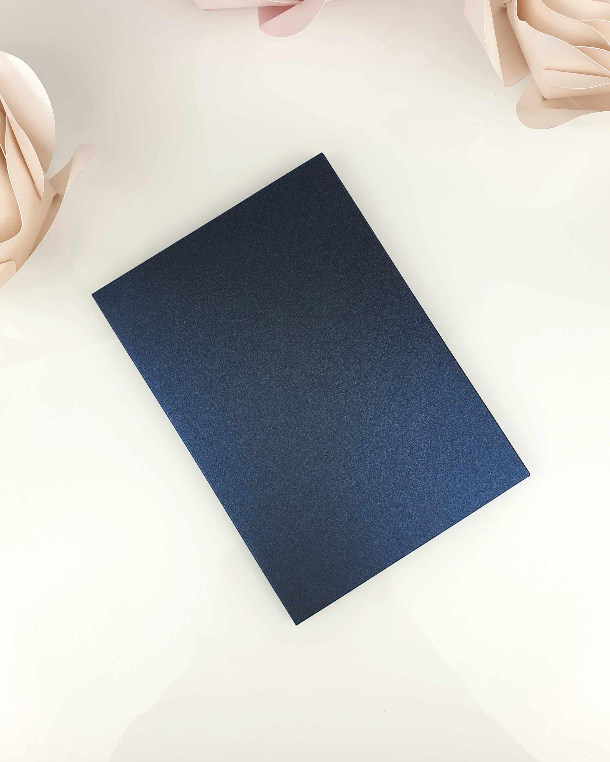 Etui shiny blue A5 dodatki