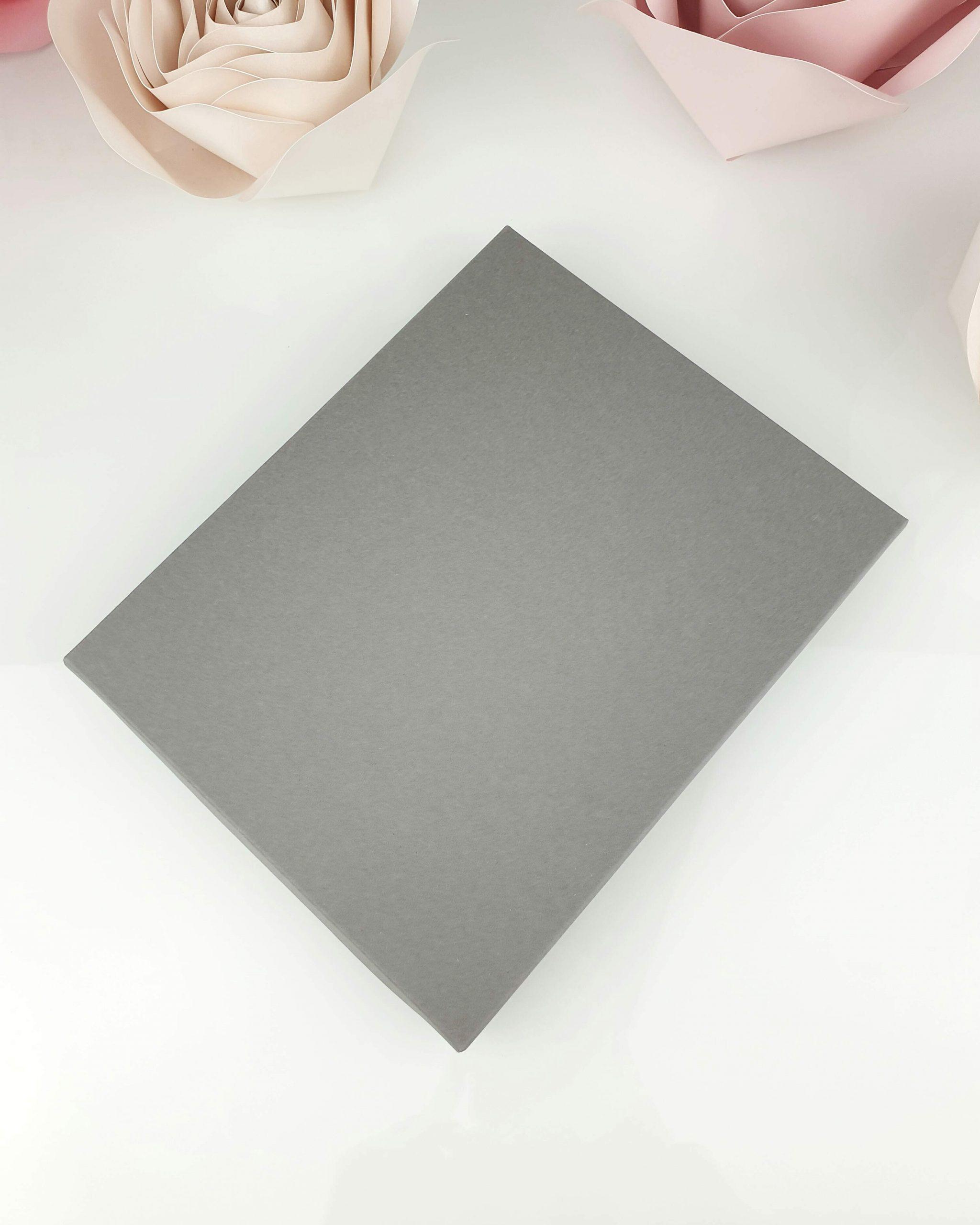 Etui szare z wkładką stabilizującą do tafli A5 dodatki