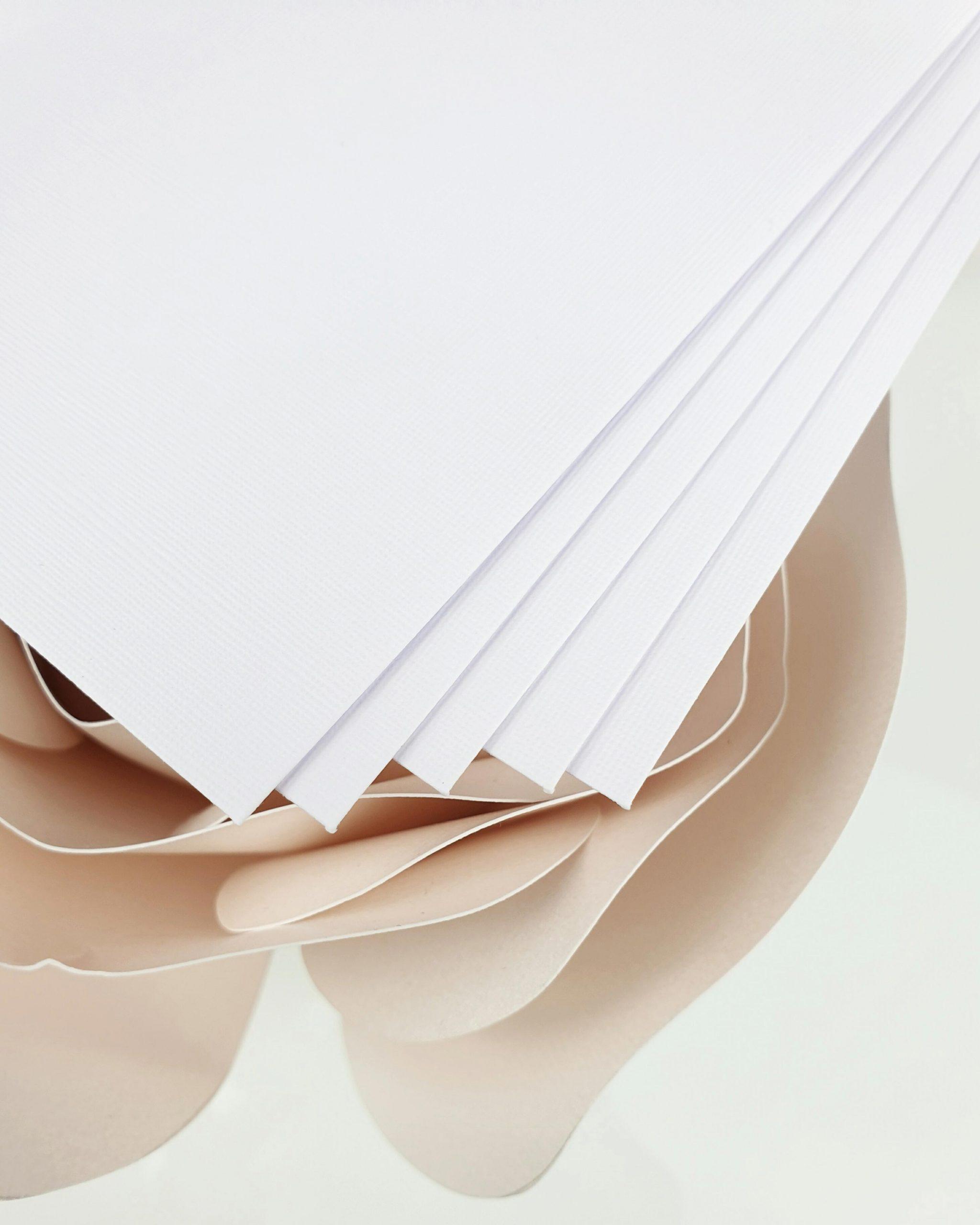 Koperta perłowa biała lniana do zaproszeń satynowych dodatki 4