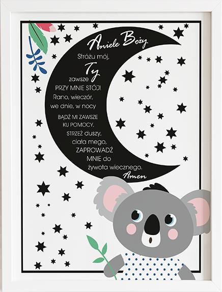 Modlitwa aniele Boży koala prezent dla dziecka