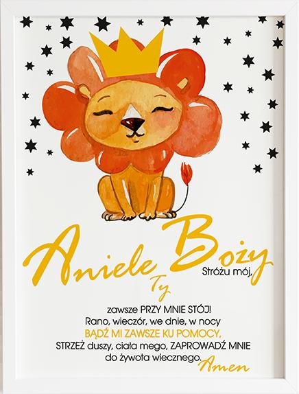 Modlitwa aniele Boży król lew 2 prezent dla dziecka