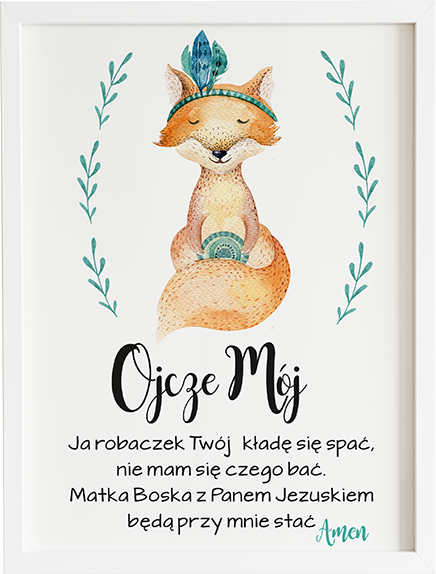 Modlitwa ojcze mój lisek prezent dla dziecka