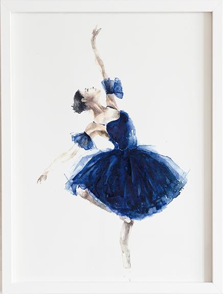 Obraz do pokoju baletnica blue prezent dla dziecka