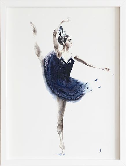 Obraz do pokoju baletnica navy blue prezent dla dziecka