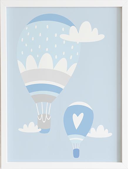 Obraz do pokoju blue pastel series baloniki prezent dla dziecka