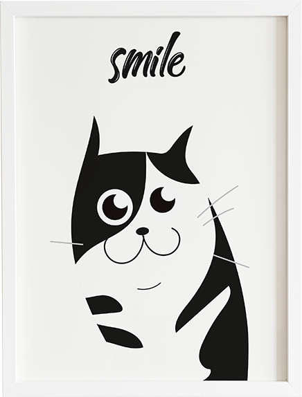 Obraz do pokoju cat family 1 prezent dla dziecka