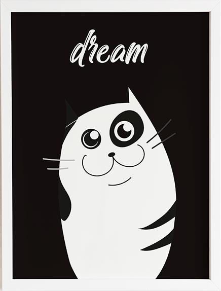 Obraz do pokoju cat family 3 prezent dla dziecka