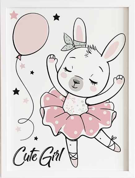 Obraz do pokoju cute girl prezent dla dziecka