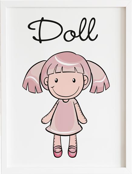 Obraz do pokoju doll bear prezent dla dziecka