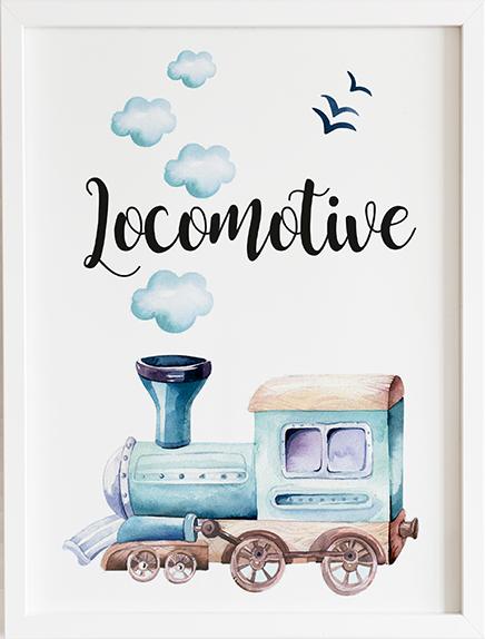 Obraz do pokoju dream locomotive prezent dla dziecka