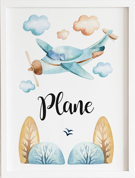 Obraz do pokoju dream plane prezent dla dziecka