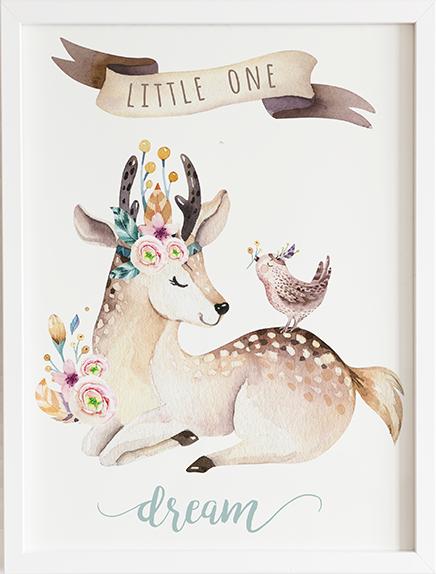 Obraz do pokoju forest jelonek prezent dla dziecka