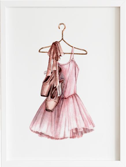 Obraz do pokoju grow up our girl ballerina dress prezent dla dziecka