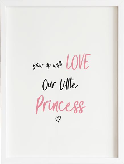 Obraz do pokoju grow up our girl princess prezent dla dziecka