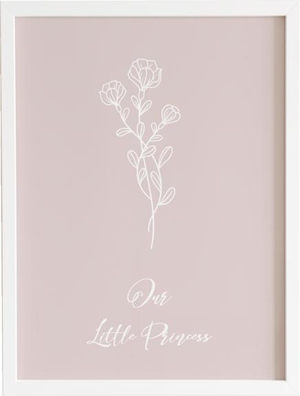 Obraz do pokoju little on baby girl 2 - prezent dla dziecka