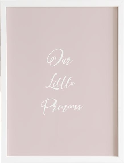 Obraz do pokoju little on baby girl 3 prezent dla dziecka