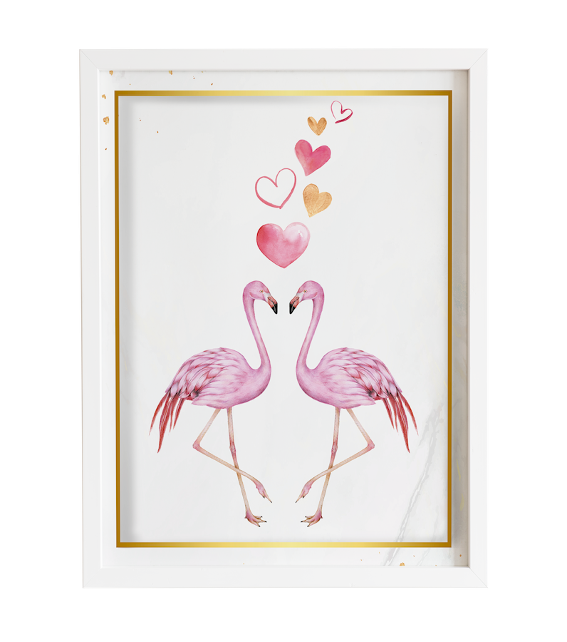 Obraz do pokoju love of flamingos prezent dla dziecka