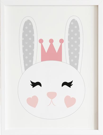 Obraz do pokoju lovely królik prezent dla dziecka