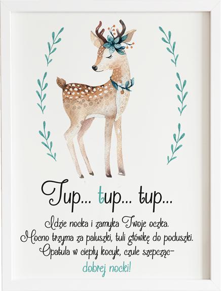 Obraz do pokoju tup tup jelonek prezent dla dziecka