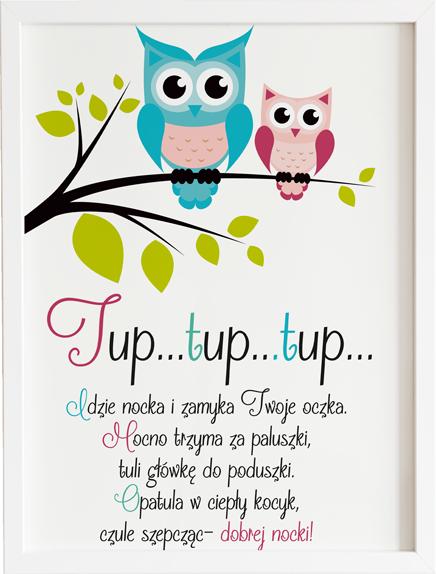Obraz do pokoju tup tup sowy prezent dla dziecka