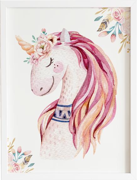 Obraz do pokoju unicorn friend prezent dla dziecka