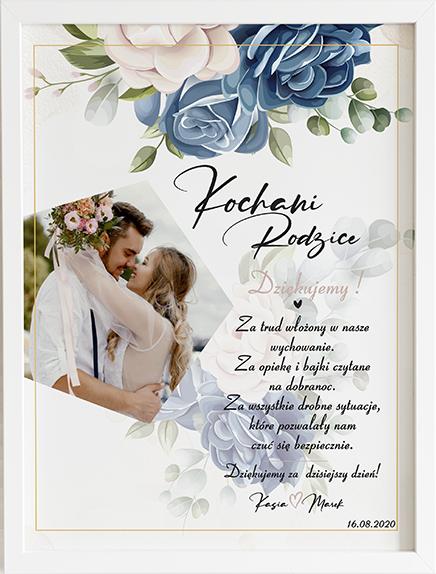 Podziękowanie dla blue wonder obraz na ślub