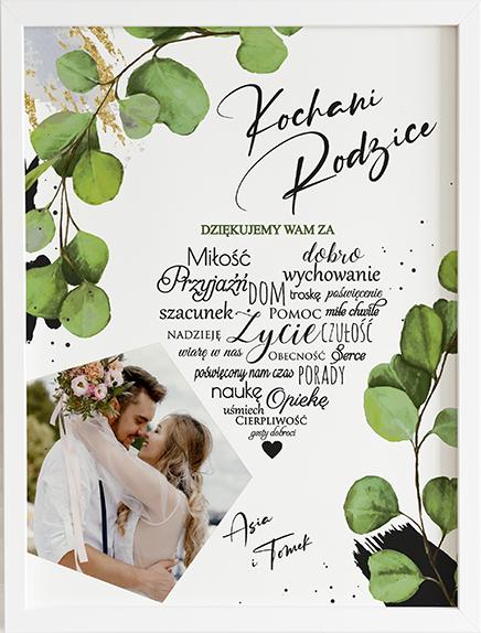 Podziękowanie dla rodziców olive flov obraz na ślub