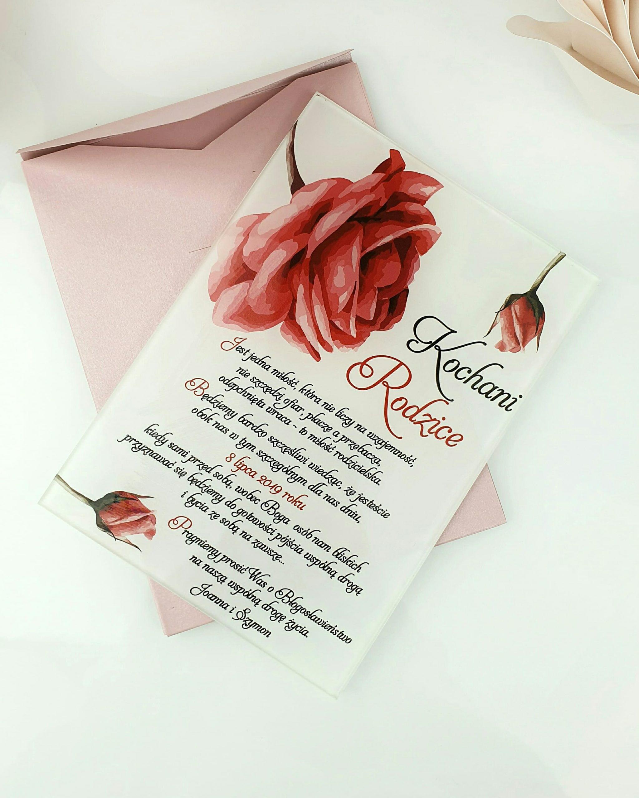 Pretty rose prośba o błogosławieństwo szklana tafla 1