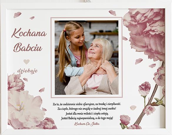 Prezent na dzień babci i dziadka sweet bloom obraz z życzeniami