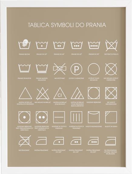 tablica symboli do prania
